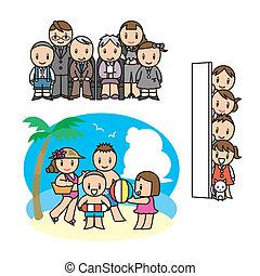 állhatatos, család, illust