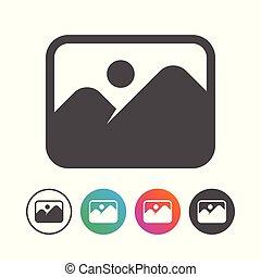 állhatatos, egyszerű, jelkép, tervezés, táj, ikon