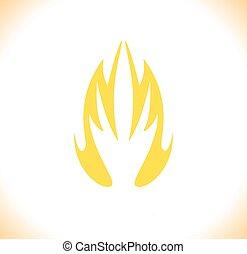 állhatatos, elbocsát, jelkép, ábra, vektor, tervezés, gyűjtés, ikon