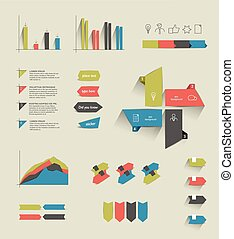 állhatatos, elements., infographics