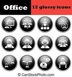 állhatatos, emberek, sima, ügy icons
