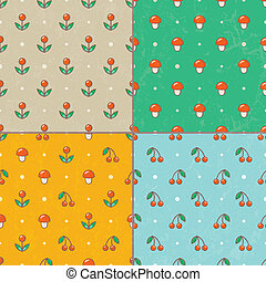 állhatatos, eps10., patterns., seamless, vektor, csecsemő