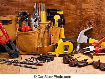 állhatatos, eszközök, dolgozó