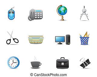 állhatatos, eszközök, hivatal, ikon