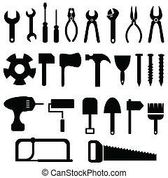 állhatatos, eszközök, ikon