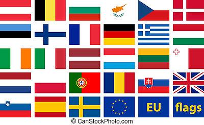 állhatatos, eu, zászlók