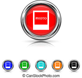 állhatatos, fénykép, hat, -, befest, ikon