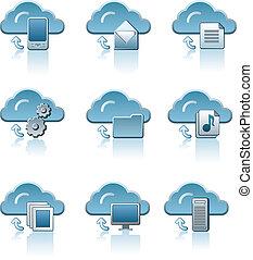 állhatatos, felhő, szolgáltatás, ikon