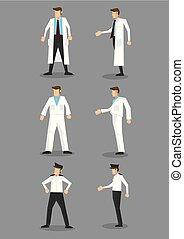 állhatatos, foglalkozás, egyenruha, vektor, fehér, ikon, ember