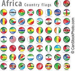 állhatatos, gombol, lobogó, vektor, afrikai, nemzeti
