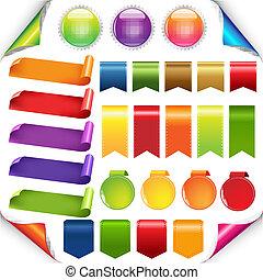 állhatatos, gyeplő, színes, címke