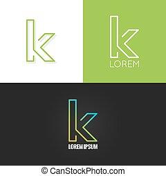 állhatatos, háttér, abc, k, tervezés, levél, jel, ikon