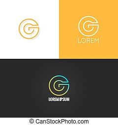 állhatatos, háttér, g betű, abc, tervezés, levél, jel, ikon