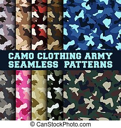 állhatatos, hadsereg, motívum, seamless, álcáz felöltöztet