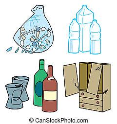 állhatatos, hulladék, illust