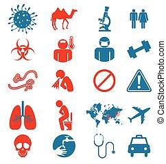 állhatatos, ikon, vírus, mers