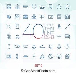 állhatatos, ikonok, 40, divatba jövő, híg, 9