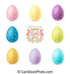 állhatatos, ikra, elszigetelt, háttér, fehér, húsvét
