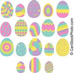 állhatatos, ikra, elszigetelt, tizennyolc, fehér, húsvét