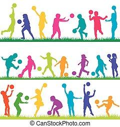 állhatatos, játék, herék, gyerekek