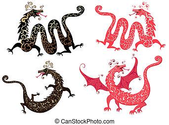 állhatatos, kínai dragon
