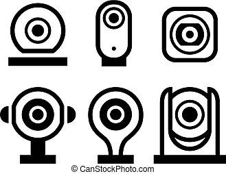állhatatos, közvélemény-kutatás, jelkép, vektor, fekete, új, video