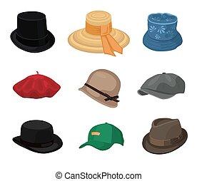 állhatatos, kalapok, szüret
