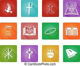 állhatatos, keresztény, ikon