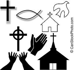 állhatatos, keresztény, ikonok, jelkép, más, templom