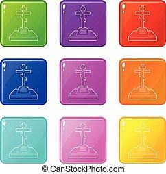 állhatatos, keresztény, ikonok, szín, gyűjtés, 9, komoly