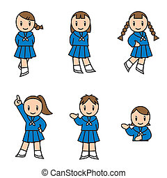 állhatatos, lány, illust