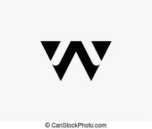 állhatatos, levél, abc, nyugat, jel, ikon