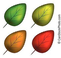 állhatatos, levél növényen, jelkép, vektor, ikon, design.