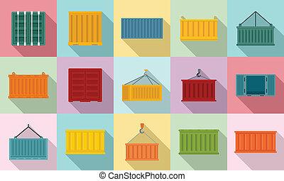 állhatatos, mód, lakás, teherárú tároló, ikonok
