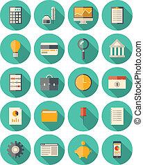 állhatatos, modern, pénzel, ügy icons