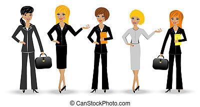 állhatatos, nő, karcsú, ügy