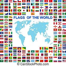 állhatatos, országok, független, cégtábla, egyesült államok, zászlók, címek, világ