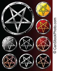 állhatatos, pentagrams