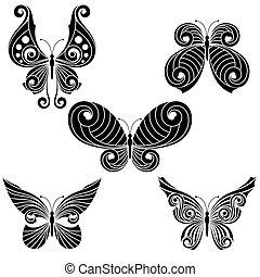 állhatatos, pillangók