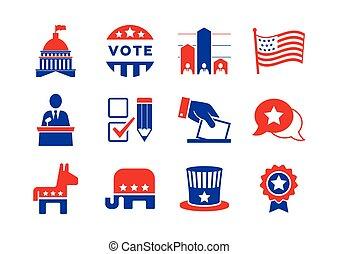 állhatatos, politikai, ikonok