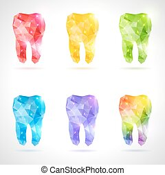 állhatatos, polygonal, teeth., vektor