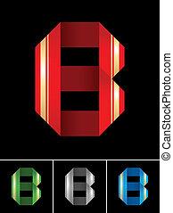 állhatatos, ribbon-latin, ábécé, elpirul újság, levél, betűtípus, b betű