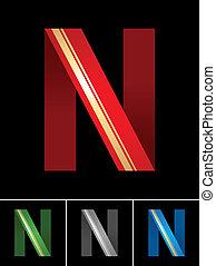 állhatatos, ribbon-latin, ábécé, színezett, betűtípus, dolgozat, levél n