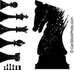 állhatatos, sakkjáték, grunge