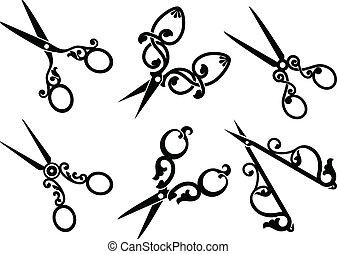 állhatatos, scissors., retro