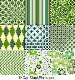 állhatatos, seamless, zöld, példa