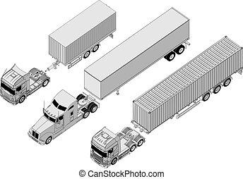 állhatatos, semi-truck