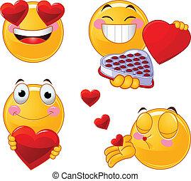 állhatatos, smileys, valentines, emoticon