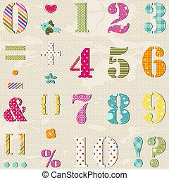 állhatatos, számok, színes