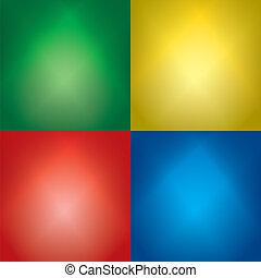 állhatatos, szín, fény, -, háttér, vektor, lokátorral helyet határoz meg